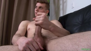 newcomer Brock Banner strokes his dick