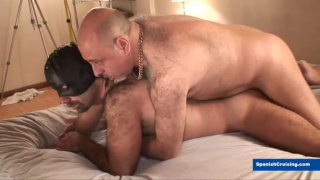 furry bald daddy screws masked bottom
