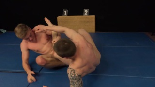 wrestler Igor Vanok and Libor Vanek unload their nuts