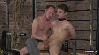 bound Kamyk Walker gets cock edged by Sean Taylor