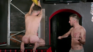 Bound and chained sub fuck