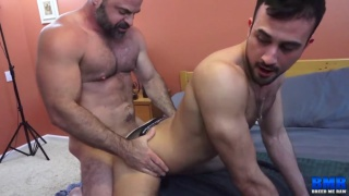 Bishop Angus bareback fucks Mason Lear