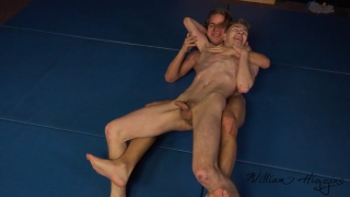wrestling with Karel Omanek and Ondra Gala