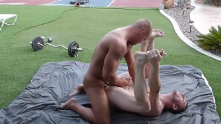 guys take a break from working out to fuck