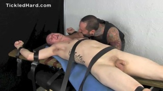 Straight guy Jacob submits himself to the tickling table