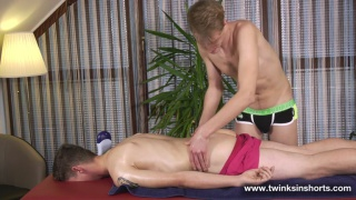 guy anxious to suck his masseur's cock