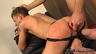 Nicolas Daner gets his ass spanked and fucked with dildos