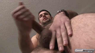 furry college guy jacks off in first porn video