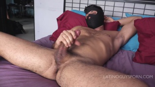 latino guy hides his face in JO video