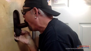 Interracial Gloryhole suck and Fuck