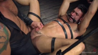 bound Ian Greene fucked by Dominic Pacifico