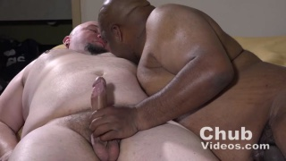 an interracial chubby couple fuck