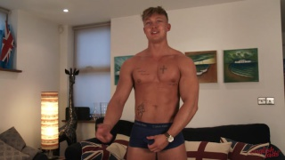 rugby hunk jacks off in first video