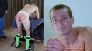 straight guy gets spanked in his Soccer Gear
