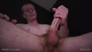 ginger guy Rob strokes his 9 inches