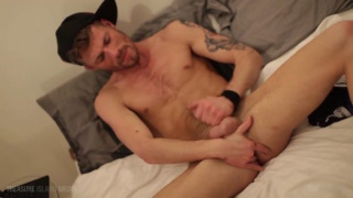 McKenzie Cross fingers his hole while jerking off