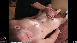 blond guy Tate gets an erotic massage and more