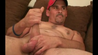 redneck rob beating off in his red ball cap