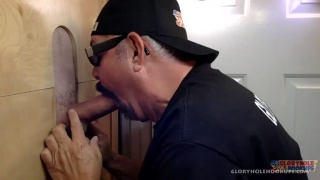 Big Dick Daddy Gets Blown At The Glory hole