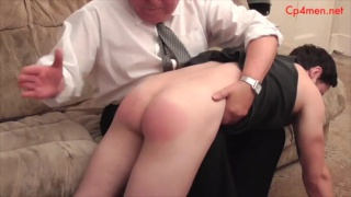 colin was late and gets spanked by head master