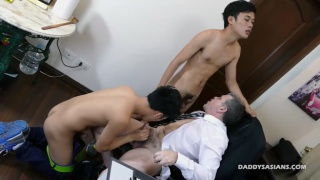 two Office Boys work over their boss for a raise