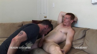max cameron sucks off a ginger straight guy