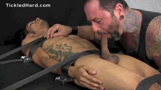 Damian Bound Tightly, Tickled and Blown