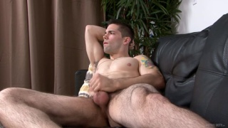 Julian Brady strokes his cock in first video