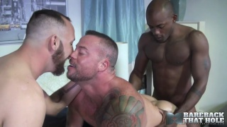 bareback threeway with Dustin Steele, Osirus Blade and Sean Duran