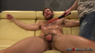 bound Adam Zrzek spanked and tormented