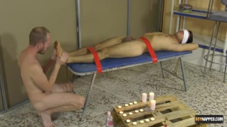 Foot Wanking With A Captive Twink Maxxie Wilde