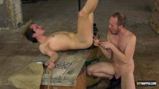 Sean Taylor gives Joey Valentine a bondage butt pounding