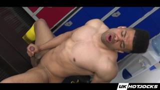 Jayden Middleton jerks off in locker room