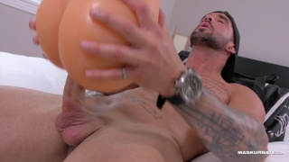 muscled jock zach fucks a silicone ass