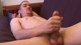 Casper Cox jerks his big cock