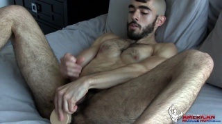 hairy guy Randy Joe jerks off