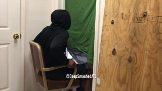 anonymous guy sits at a glory hole and gets head