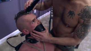 master shaves off his boy's mohawk