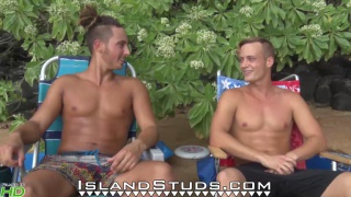 Brothers skinny dip and play naked frisbee