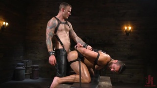 Christian Wilde torments Seth Santoro in his dungeon