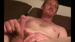 ginger iron worker jerks his cock