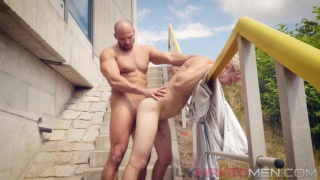 outdoor sex with Zack Hood and Danny Torro