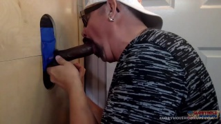 cocksucker blows black man at gloryhole