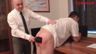 student Gavin gets spanked by head master