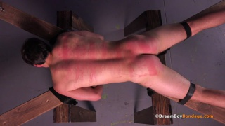 muscle stud Austin tied to cross and beaten