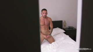 obsessed fan stalks his favorite porn hunk