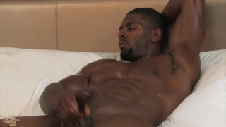 gorgeous and ripped American Dream jerks his dick