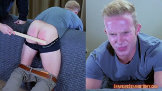 muscular and hung 26-year-old gets spanked