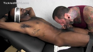 Athletic Black Guy Jordan Fights His Tickle Test