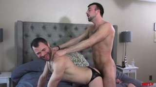 Mason Lear lets Dusty Williams ride his cock